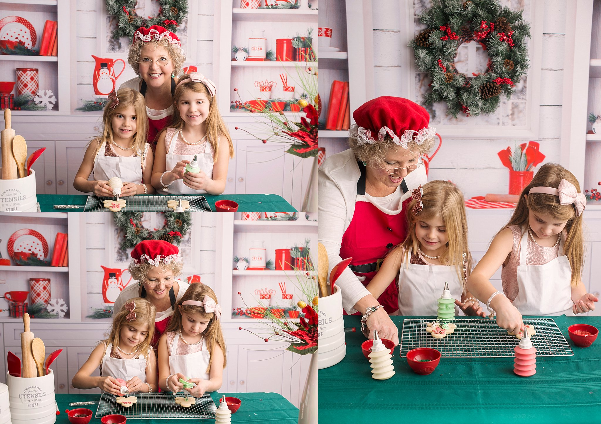 Fort McMurray Photographer, Christmas Mini Sessions, Mrs. Claus, Decorating Cookies, Studio Photography, Professional Photography