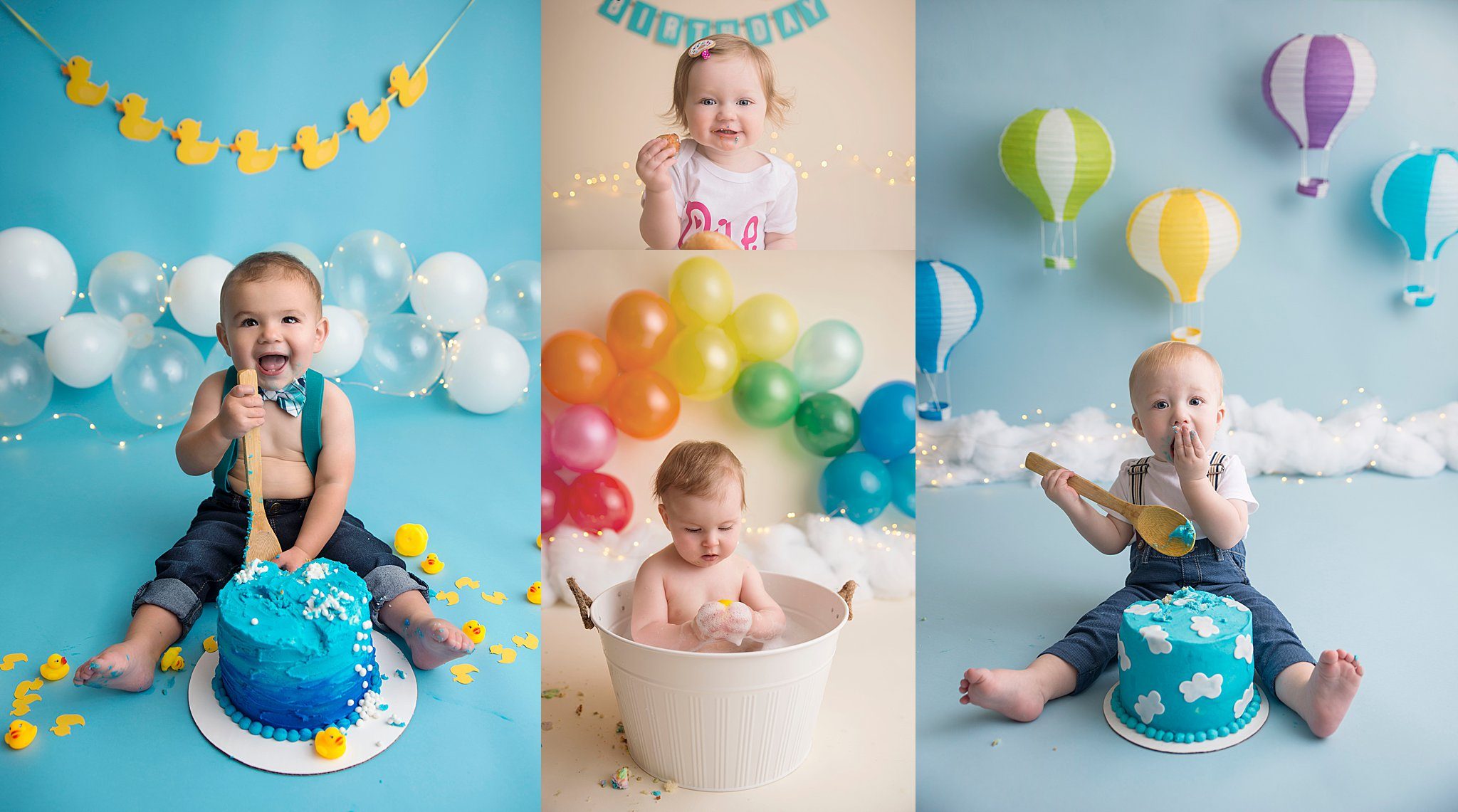 Amie Roberts Photography, Fort McMurray Cake Smash Photographer, Fort McMurray Photographer, Cake Smash Photography, Bubble Bath, Donut Smash