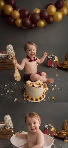 Fort McMurray cake smash photographer, cake smash photography, Fort Mac photographer, Harry Potter Cake Smash